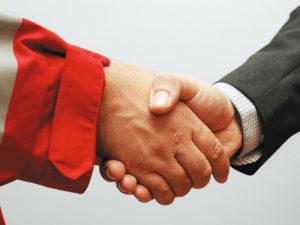 Fördermitglied Handshake